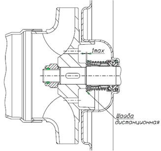 Монтаж торцового уплотнения исполнения 2100K BS